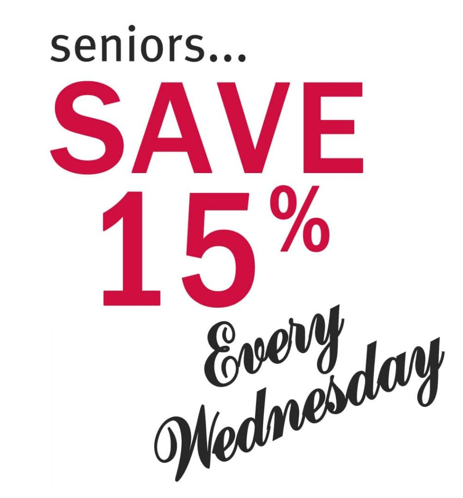 seniors save every wednesday
